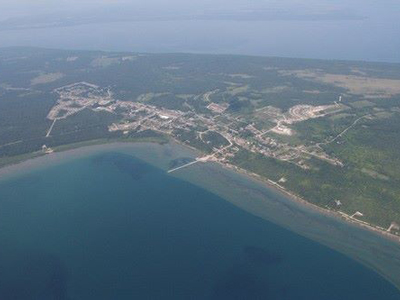Aerial view of Wikwemikong